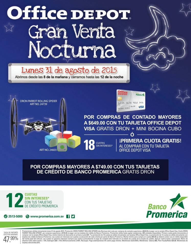 TONIGHT Office Depot gran venta nocturna - 31ago15