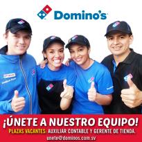 Unete al equipo de trabajo DOMINOS PIZZA elsalvador