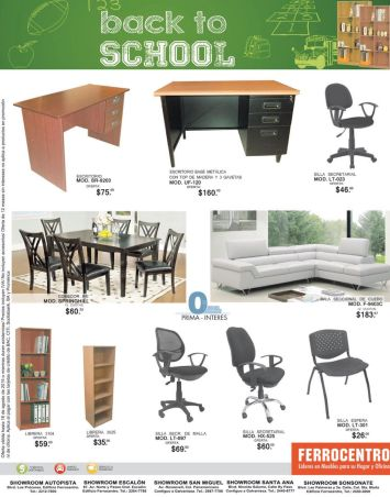 back to school promotions FURNITURE Ferocentro