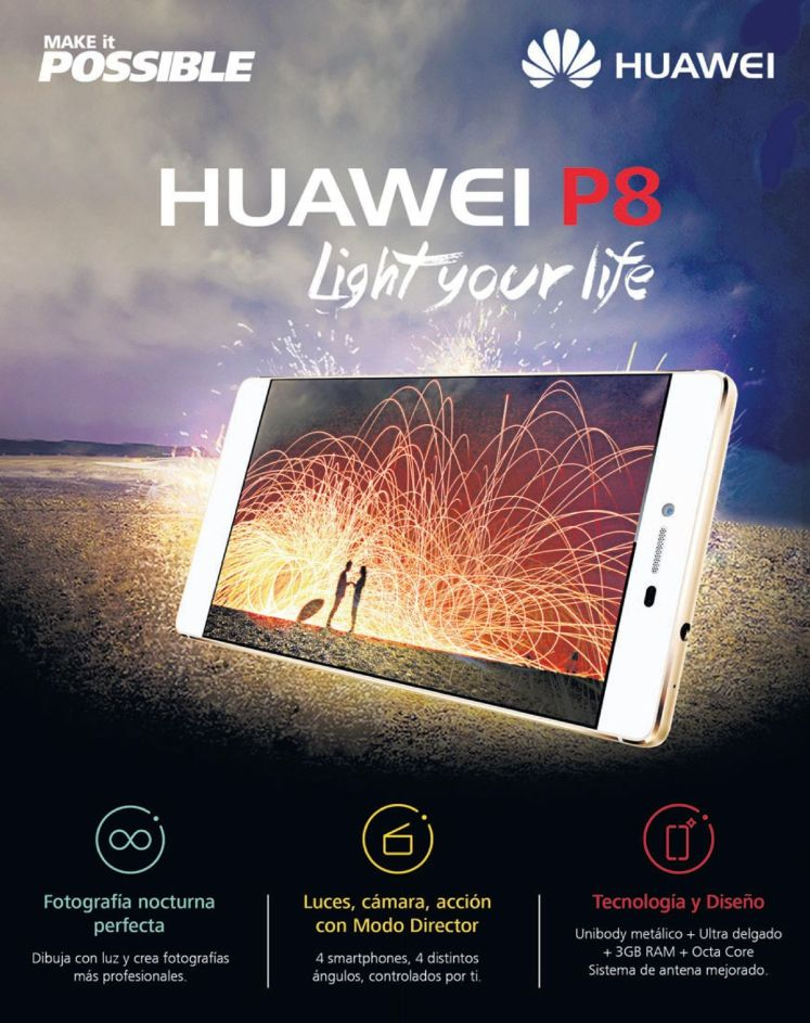 make it possible HUAWEI P8 light your life