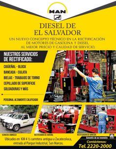 man DIESEL el salvador rectificacion de motores gasolina y diesel