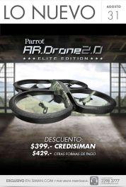 new AR DRONE 2.0 Parrot elite edition DISPONIBLE en SIMAN con descuento
