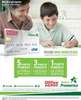Beneficio de banco promerica con credit car OFFICE DEPOT
