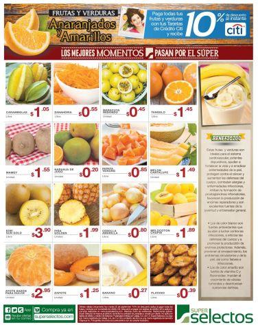 Beneficiones de las frutas y verduras anarajados y amarillos