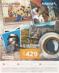 Boletos y ofertas de viajes a COLOMBIA via AVIANCA airlines
