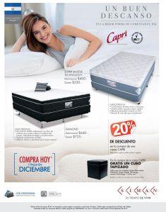 CAPRI descuentos 20 off en camas SUPER master technology rest - 25sep15