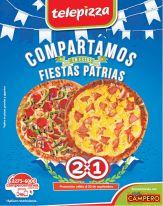Comparte las fiestas patrias con TELEPIZZA al 2x1 promociones