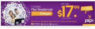Contratar plan residencial de internet JAPI promociones