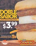 DOBLE SABOR campero desayunos Muffin salchicha doble y huevo