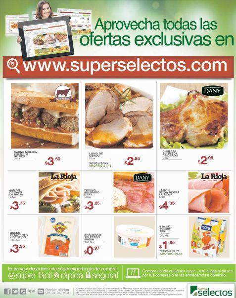 Encuentra ofertas exclusivas en la tienda online SUPER SELECTOS - 25sep15