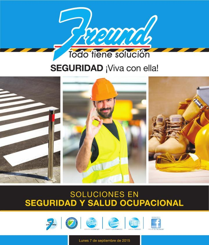 Folleto de productos seguridad salud ocupacional