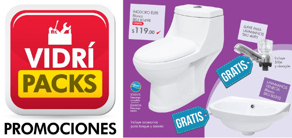 Folleto de promociones VIDRI Packs sep 15