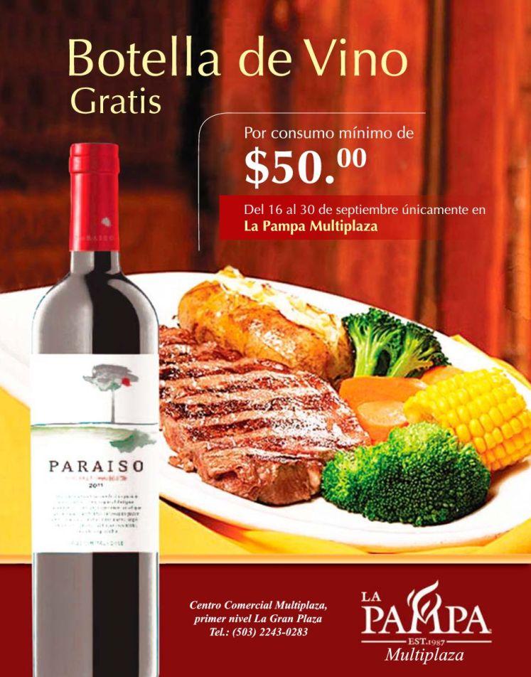 LA PAMPA multiplaza GRATIS botella de vino PARAISO