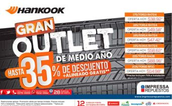 LLANTAS hankook gran outlet de medio ano - 14sep15