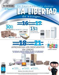 La Libertad de escoger DESCUENTOS de independencia LA CURACAO - 16sep15