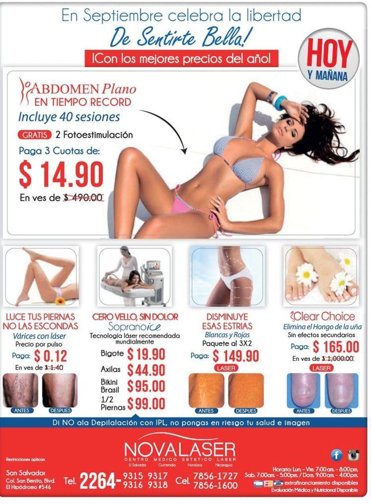 NOVALASER promociones en tratamientos de belleza efectivos