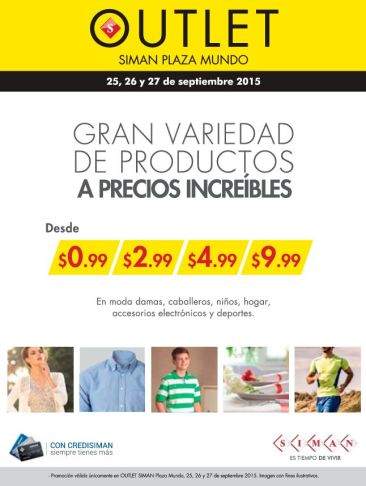 OJO precios increibles desde 99 centavos en OUTLET SIMAN - 25sep15