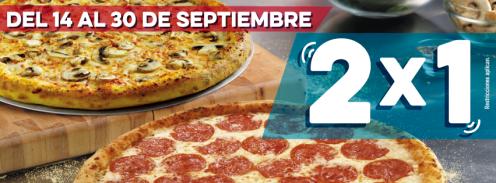 Ultimos DIAS de la promo de independencia DOMINOS PIZZA 2x1