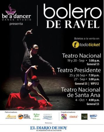 be a dancer BOLERO DE RAVEL dace studio present