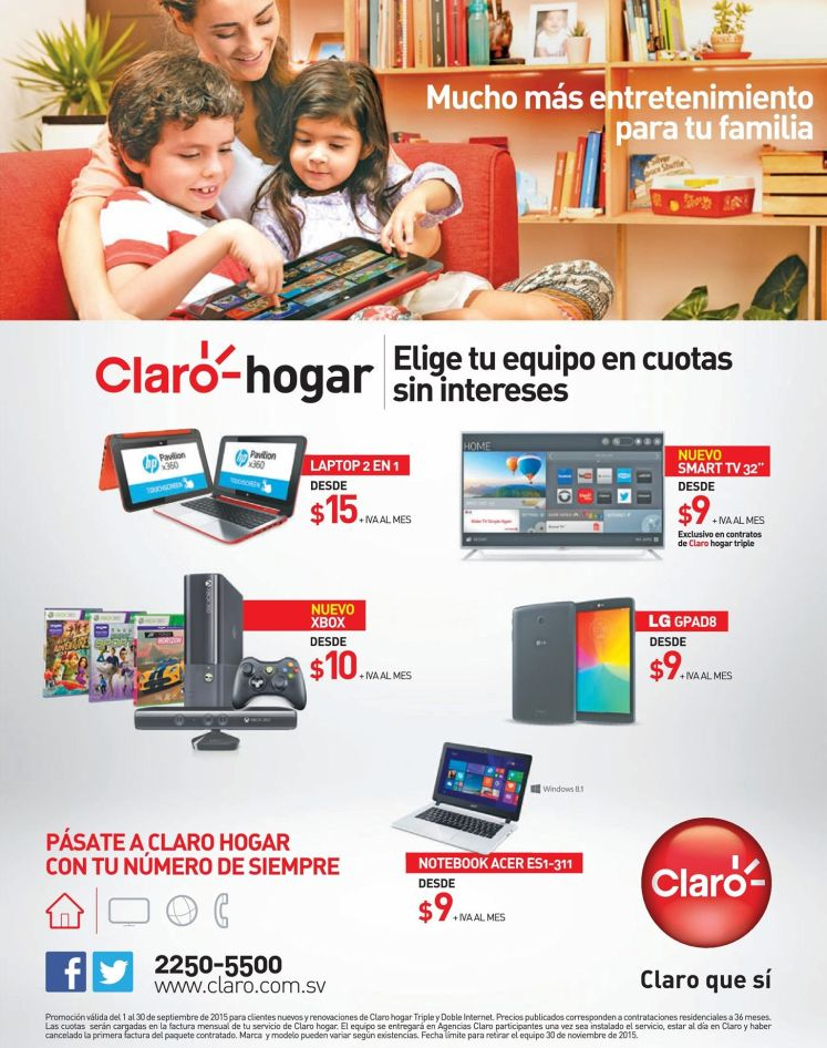 casa CLARO promociones laptop tablet xbox notebook y mas