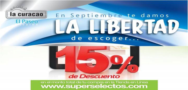 descuentos y promociones de independencia 2015