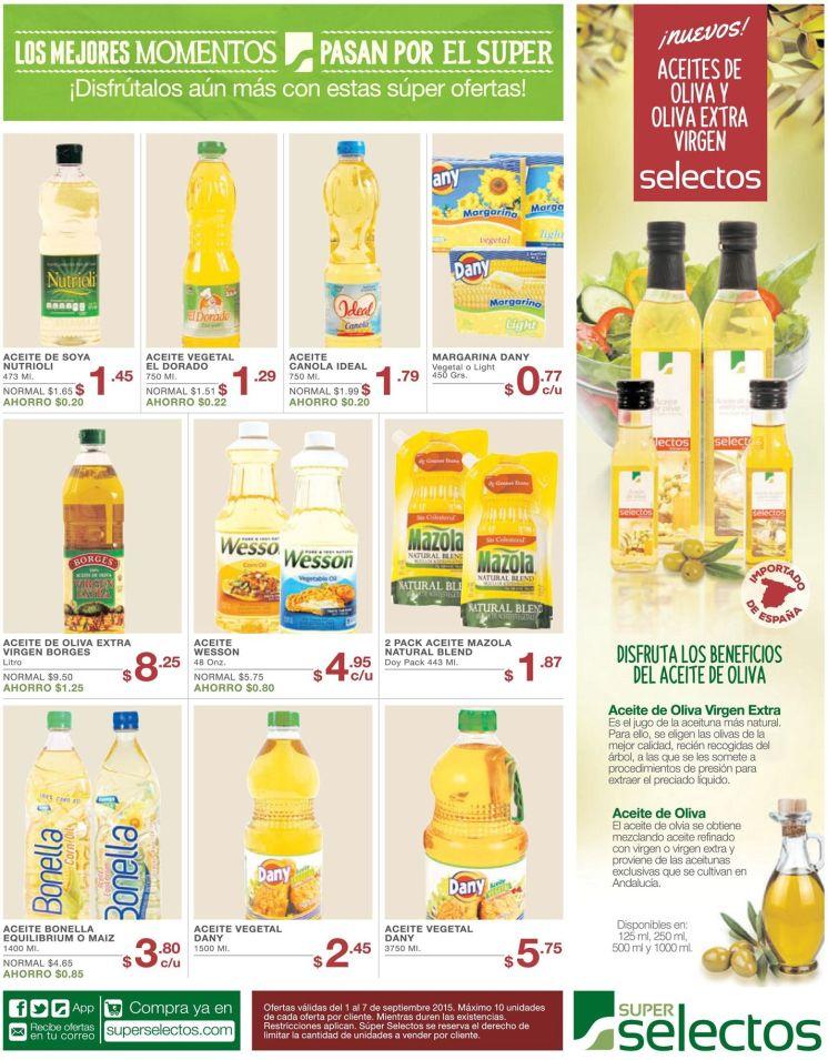 nuevos aceites de OLIVA extra virgen en super selectos