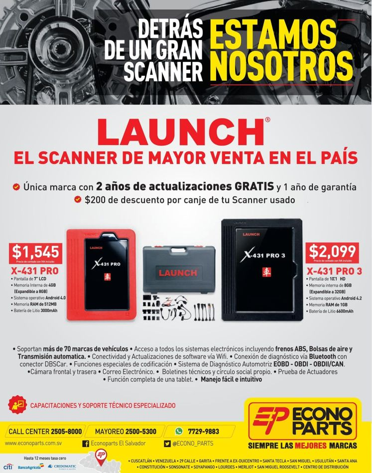 scanner para autos LAUNCH