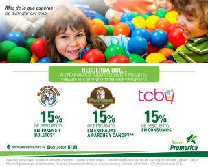 Beneficios para celebrar con tus hijos con Banco Promerica - 01oct15