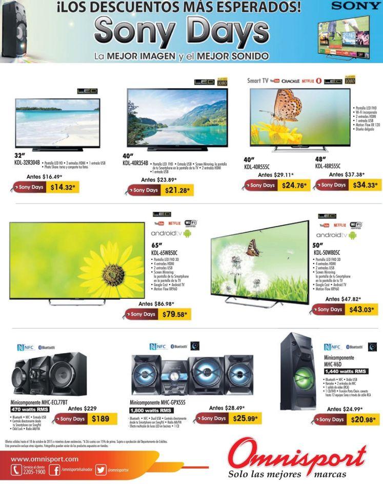 Descuentos esperados via OMNISPORTS SONY DAYS offers