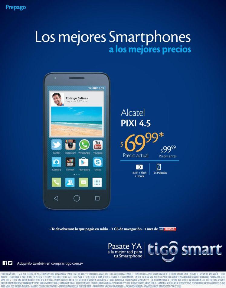 El famoso ALCATEL PIXI en oferta gracias a smartphone TIGO - 02oct15