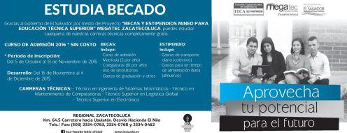 Estudia becado en el MEGAtec ZACATECOLUCA