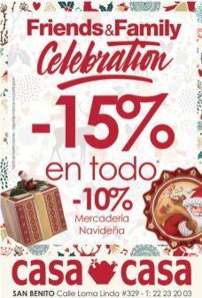 Friends and family celebration DECORATING discounts casa and casa