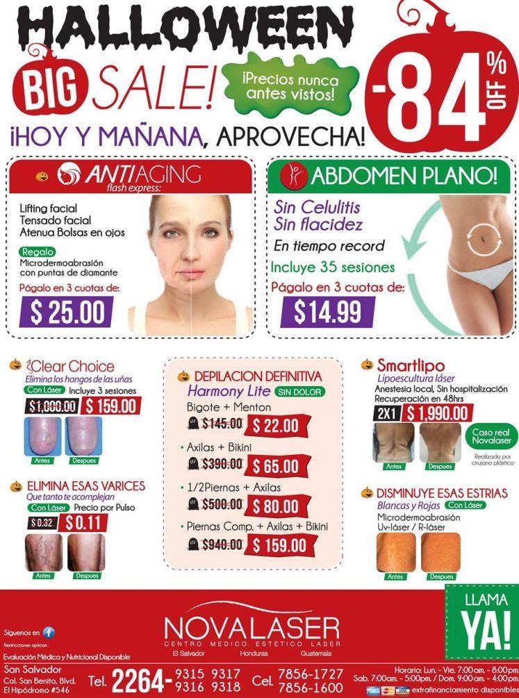 HALLOWEEN beauty discounts novalaser el salvador