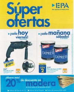 HOY y manana es ferreteria EPA el salvador SUPER ofertas - 30oct15