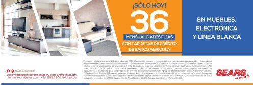 LINEA BLANCA con 36 mensualidades fijas en SEARS - 24oct15