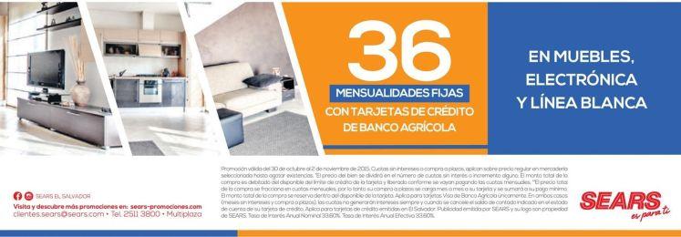 Mensualidades fijas con banco agricola compra MUEBLES ELECTRONICA y LINEA BLANCA