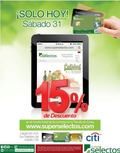 ONLINE shopping en super selectos con 15 OFF ahora - 31oct15