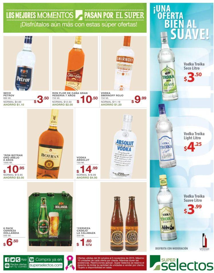 Ofertas bien al suave en cervezas y bebidas alcoholicas - 30oct15