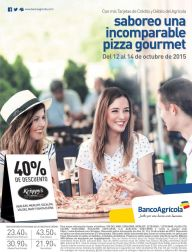 Pizza gourmet KRISPPYS con 40 off via Banco Agricola