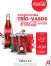 Promociones COCA COLA trio de vasos de coleccion 2015
