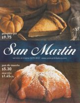 SAN MARTIN bakery to halloween 2015 pumpkin pie dead bread