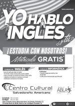 Yo hablo INGLES y tu CENTRO cultural salvadoreño
