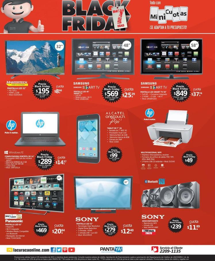 AQUI los productos audio y video ofertados por la curacao blackfriay 2015