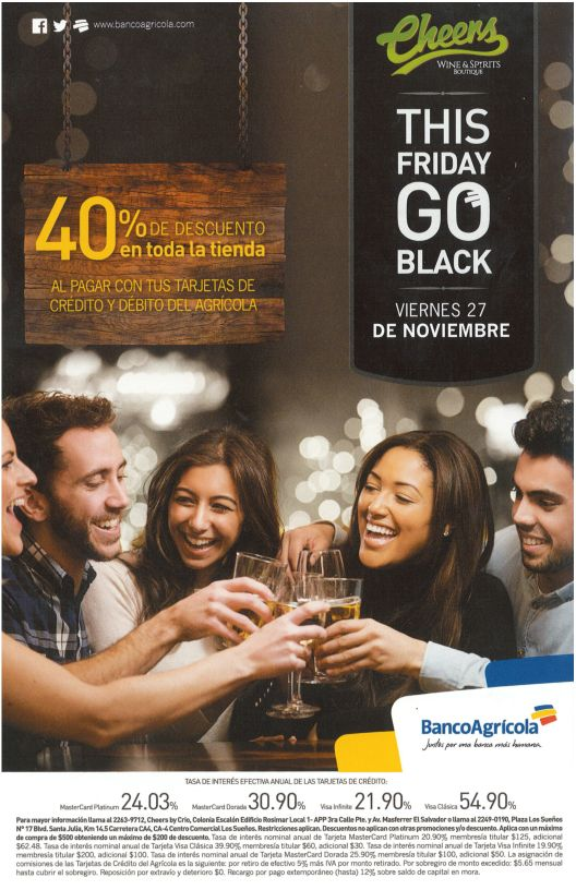 Cheers for friends party 40 OFF via banco agricola