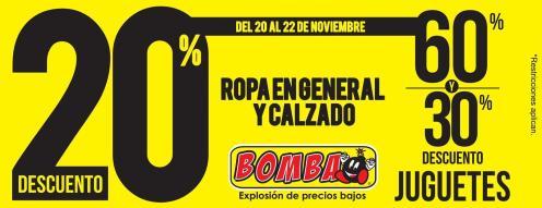Descuentos de fin de semana en ROPA almacenes bomba - 20nov15