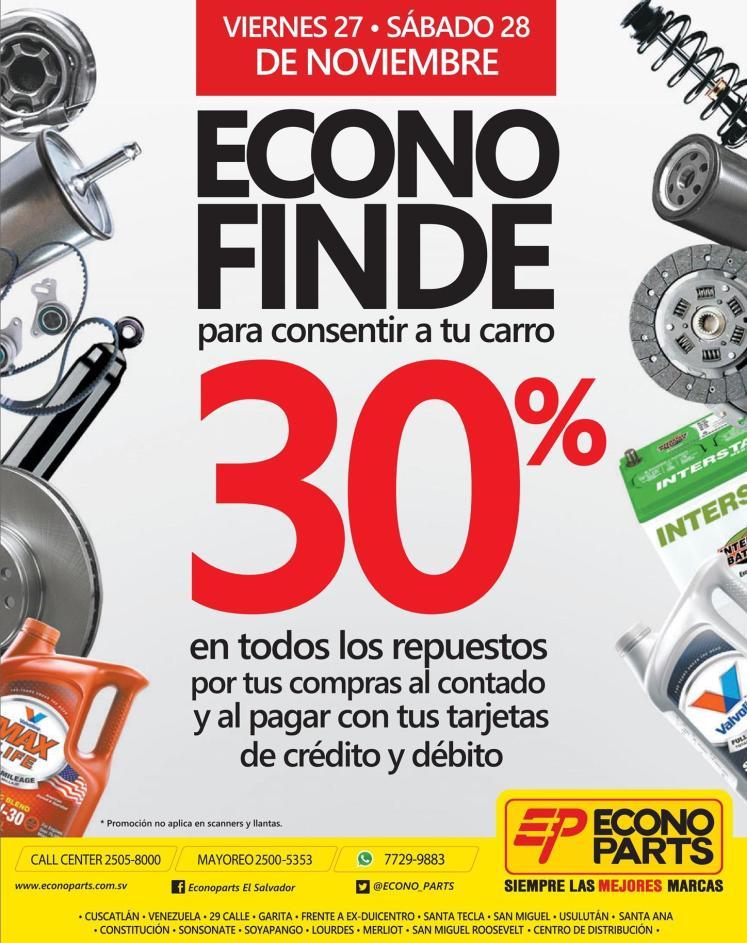 ECONO FINDe descuentos en tus compras de partes y repuestos para carros