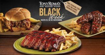 Promociones 2015 BLACK week restaurante tony romas