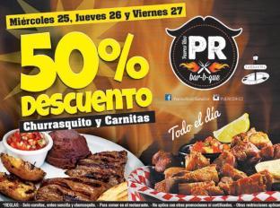 Puerco Rico con 50 OFF en churrasquitos y carnes