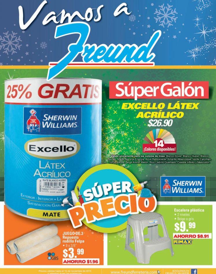 Super galon de pintura a super precio gracias a FREUND - 13nov15