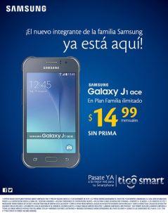 TIGO smart nuevo SAMSUNG Galaxy J1 ace desde 15 dolares mensuales